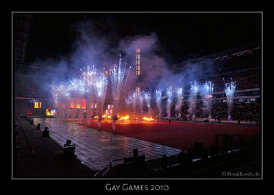 Gay Games 2010 Eröffnungsfeier der Gay Games mit 24 Feuerartisten von Project PQ