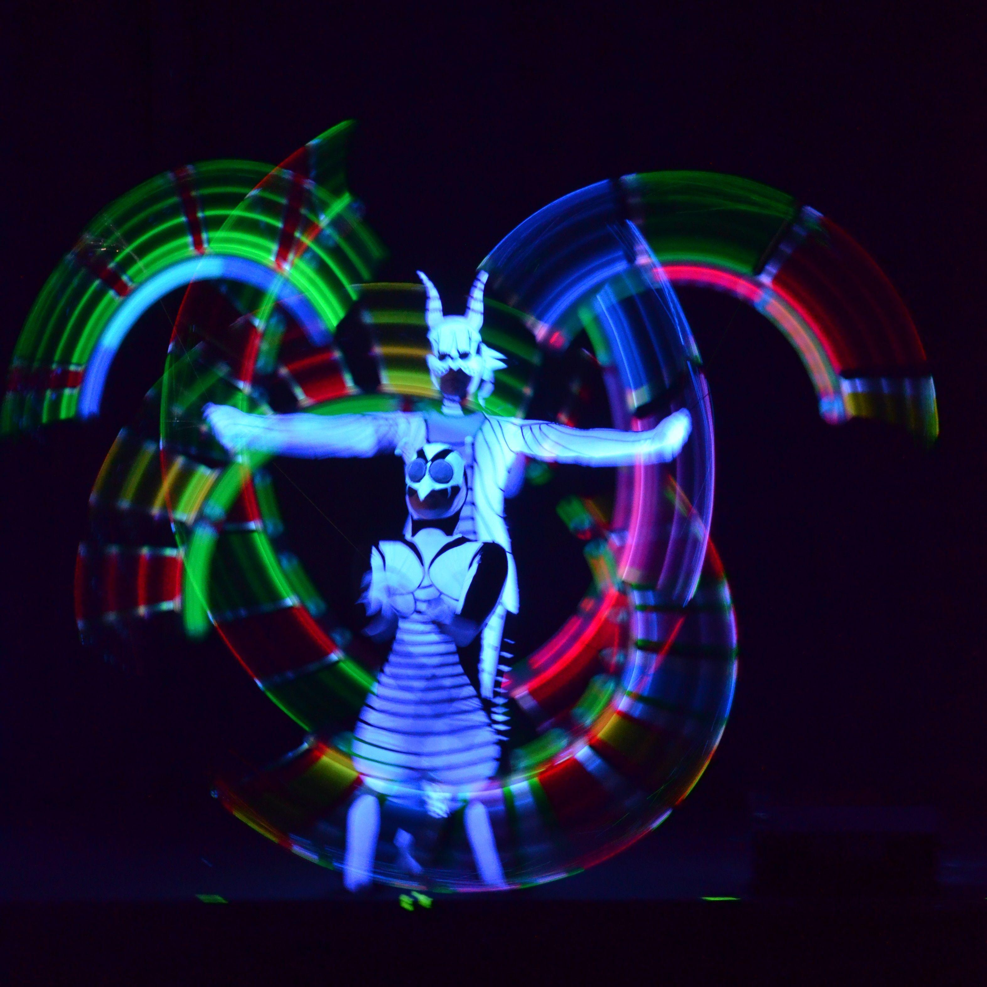 Animatix Lux Schwarzlichtshow Animatix Lux bei der Gala für Fressnapf