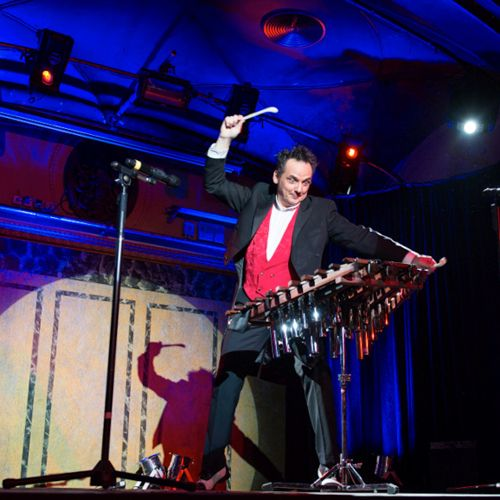Dirk Scheffel live am Xylophon