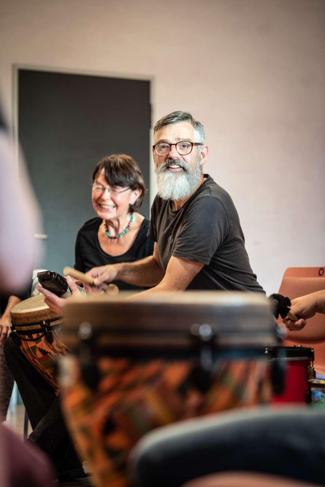 Drum Circle = Freude pur Foto: Astrid Doerenbruch