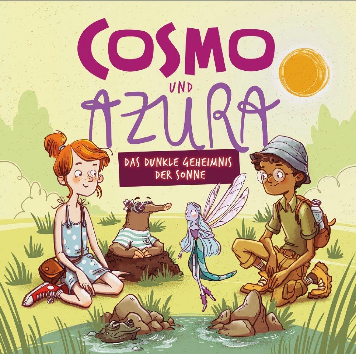 """Cosmo und Azura Cover zum Hörspiel """"Cosmo und Azura"""" mit Nadine Sieben, Rolf Zuckowski u.a."""