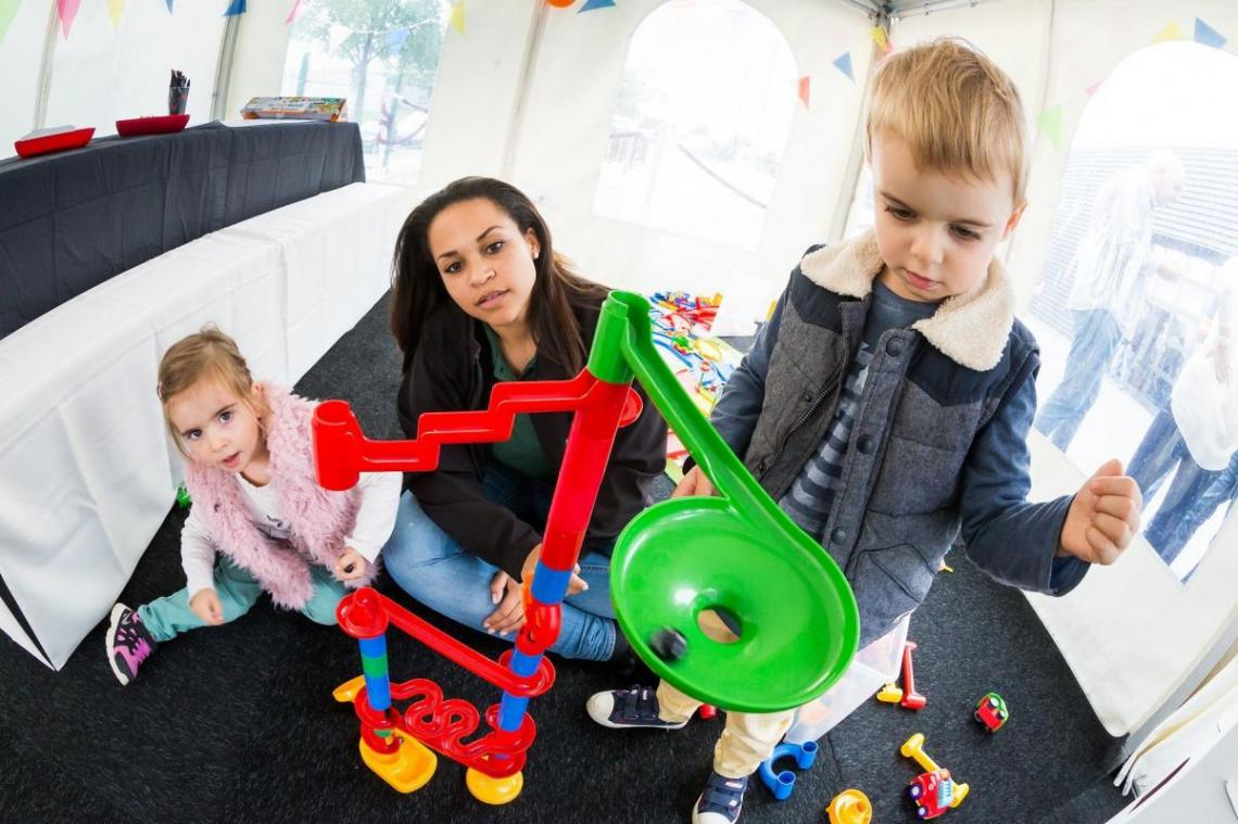 Momentaufnahme Kinderbetreuung bei den Porsche Classic Days