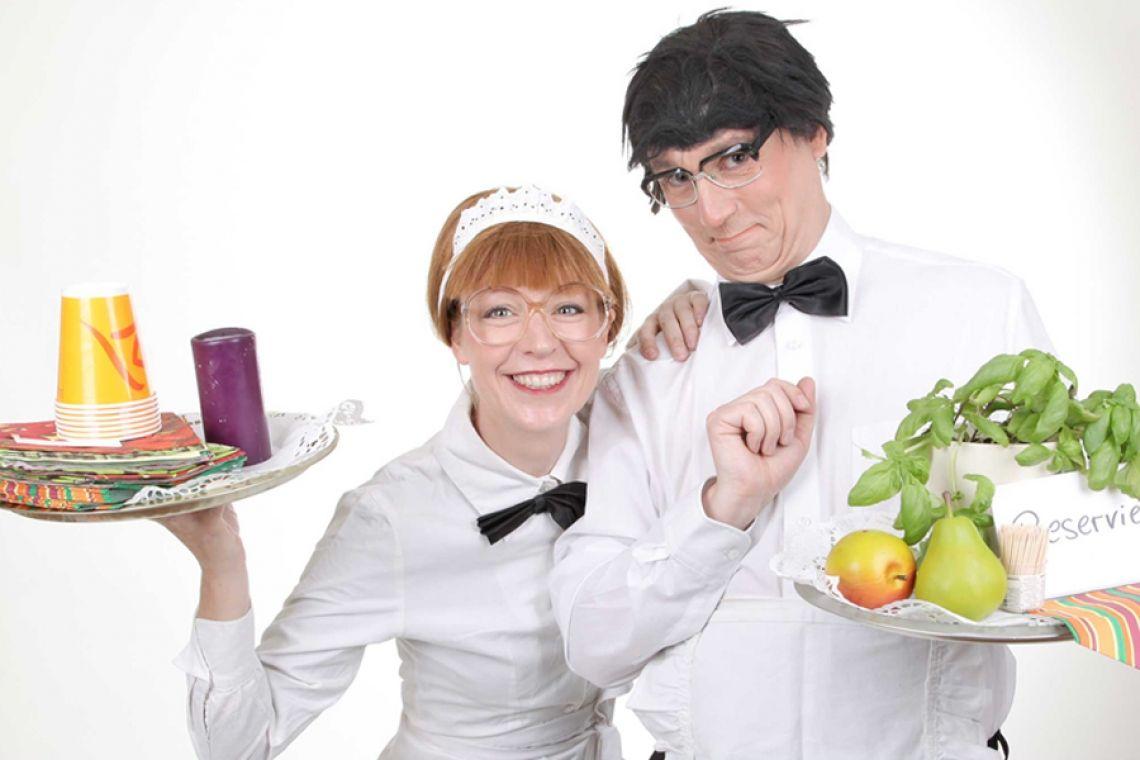 Komische Kellner Humor, Unterhaltung, Zaubereien und Entertainment direkt am Tisch