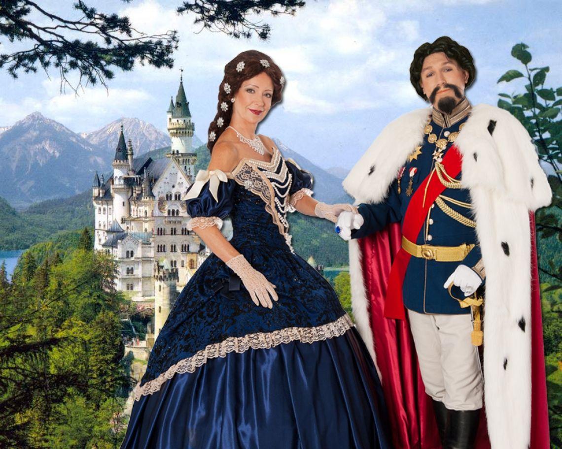König Ludwig & Sissi bayerische Unterhaltung und mt sicherheit ein ideales Fotomotiv mit Ihren Gästen