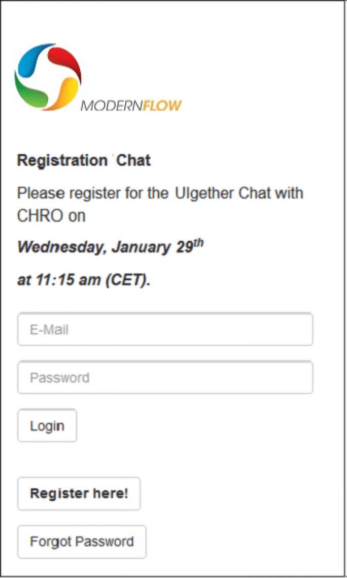 Login Module – Inhalte schützen, Teilnahme dokumentieren Mit wenigen Mausklicks können Sie Ihren Webcast nicht nur schützen, sondern auch eine Registrierung mit beliebigen Anmeldedate vorschalten. oPasswort Schutz, Login, Lead Generation oDomain Restriktion - nur E-Mail Adressen mit einer bestimmen Domain zulassen oUpload von Teilnehmer Listen und Teilnehmer Management oTeilnehmer Datenbank auch für andere Module nutzen, z.B.: Umfragen / Test, Message Box und Chat, Teilnahmedokumentation und detaillierte Auswertung