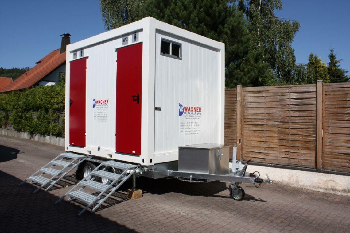 WC Container Standard+ S  Hochwertige Toilettenanlage für verschiedene Events.