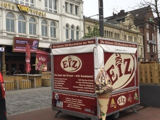 Unser Event-Anhänger Noch nicht geöffnet auf dem Spielbudenplatz in Hamburg!