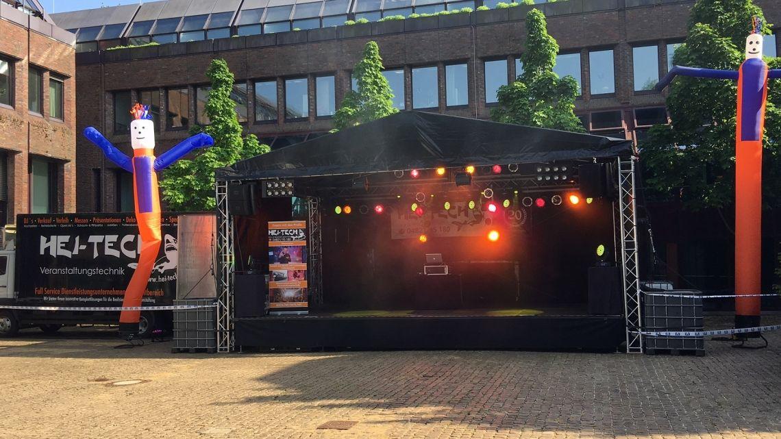 Ground Support Bühne 9x6m