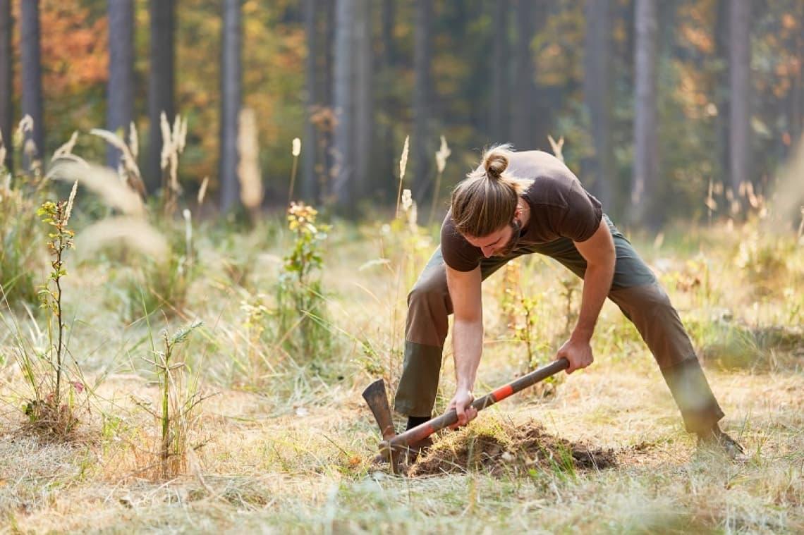 CSR-Event Bäume pflanzen im Rahmen eines CSR-Events mit bo events.